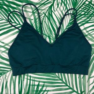 Fabletics Turquoise Strappy Sports Bra size Large